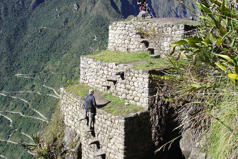 Roads of the mountain Huayna Picchu