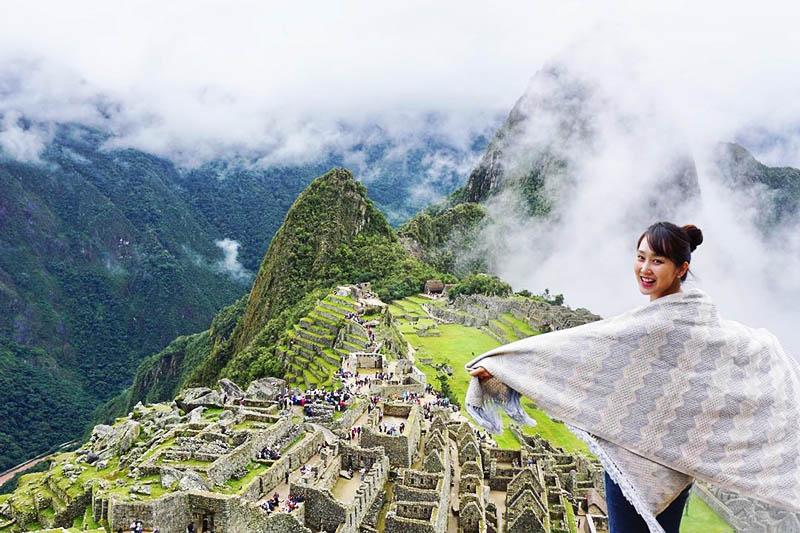Machu Picchu cubierta de niebla