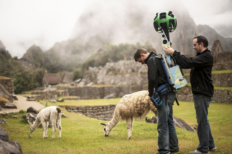 Trekker Google Street View recorriendo el interior de Machu Picchu