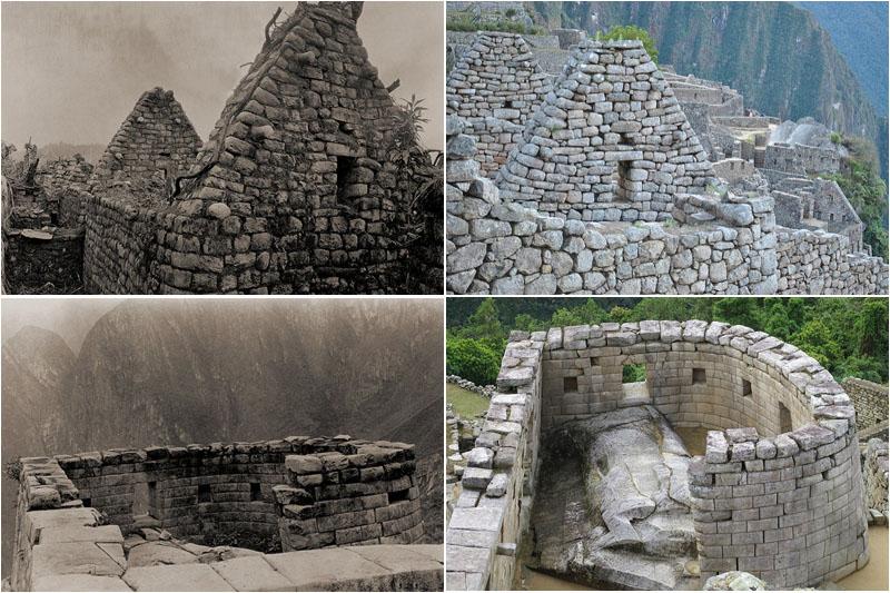 Fotos Machu Picchu 2en 1911 y actuales