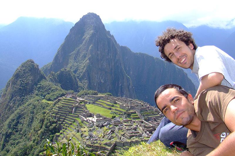 Amigos en Machu Picchu