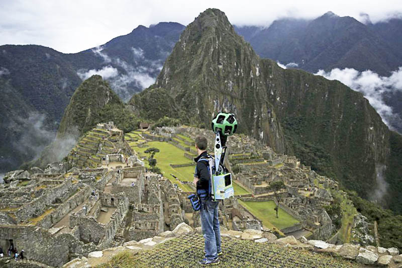 Trekker de Google en Machu Picchu