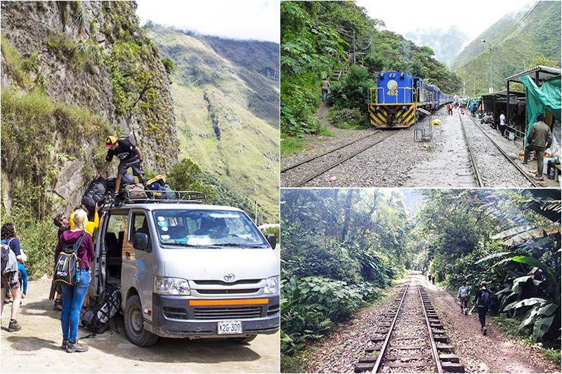 Turistas llegando a Hidroelectrica Machu picchu