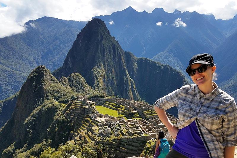 Vista de Machu Picchu la nueva maravilal del mundo