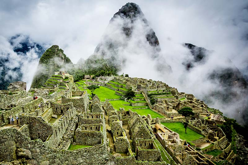 View of Machu Picchu the new wonder of the world