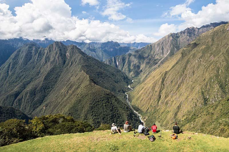 Paisaje natural del camino inca a Machu Picchu