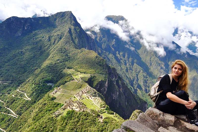 Machu Picchu observed from the mountain Huayna Picchu