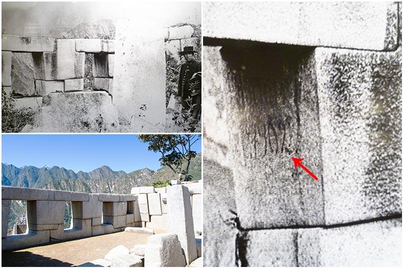 Inscripción de Agustín Lizárraga en Machu Picchu