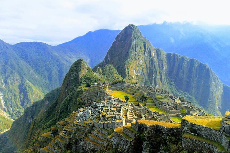 Incredible landscape of Machu Picchu