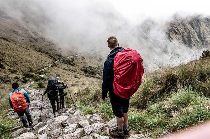 Tramo del camino inca a Machu Picchu