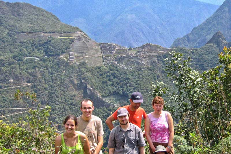 Vista de Machu Picchu desde la montaña Putucusi