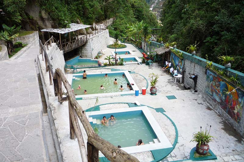 View of the thermal baths of Aguas Calientes