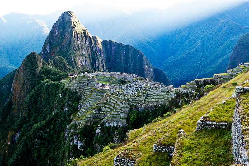 Las montañas de Machu Picchu