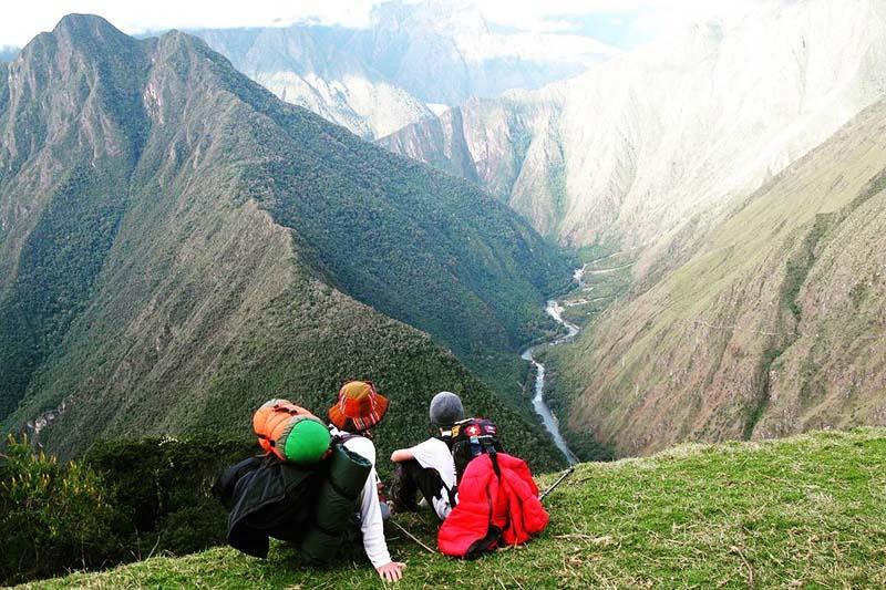 Paisaje del camino inca a Machu Picchu