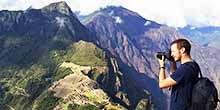 La antigua montaña sobre la cual se construyó Machu Picchu