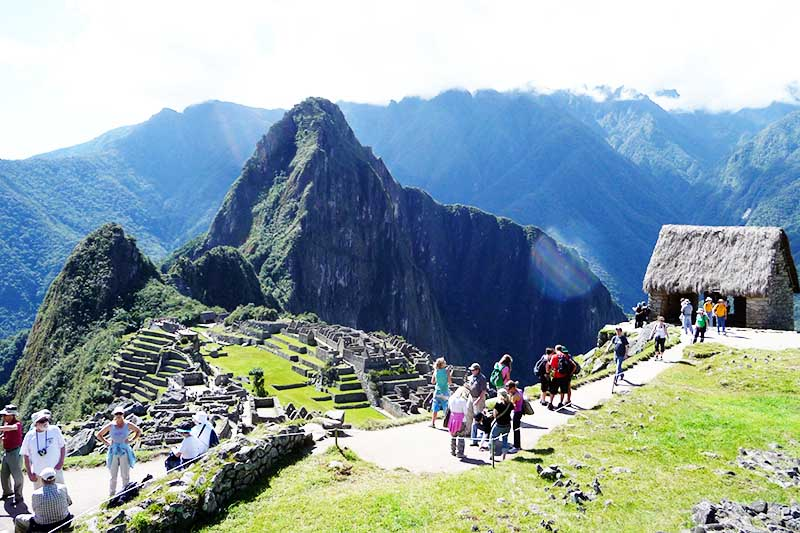 View of Machu Picchu from the guardian's house