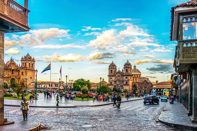 Plaza principal de la ciudad del Cusco