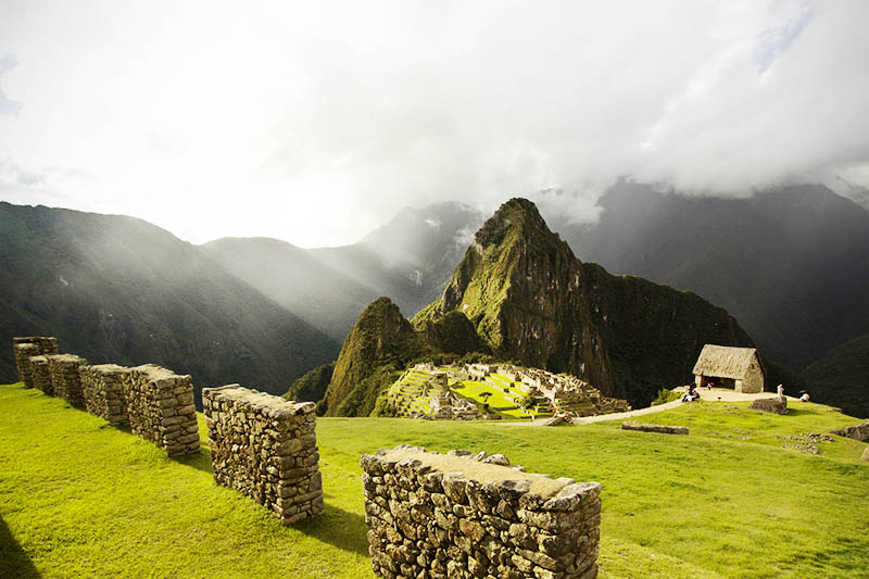 View of the Inca city of Machu Picchu