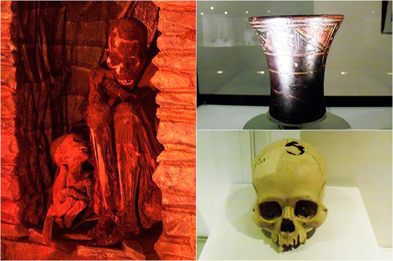 Piezas exhibidas en el Museo Inka