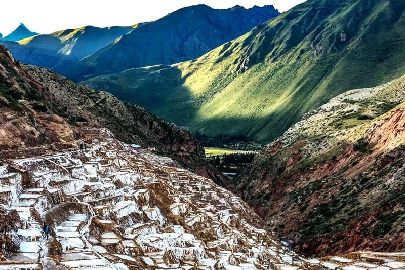 Pozos de sal en Valle Sagrado de los incas