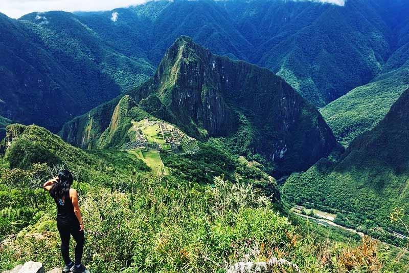 Paisaje de Machu Picchu vista desde la montaña Machu Picchu