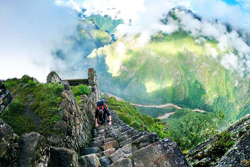 Ascent to Huayna Picchu