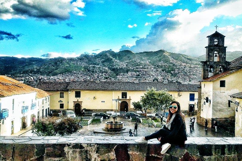 Calle y plazas de la ciudad del Cusco