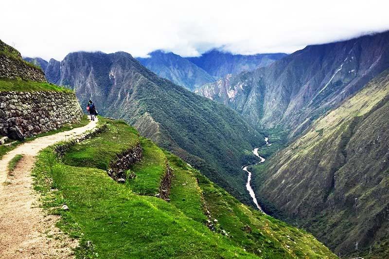 Tramo del Camino Inca hacia Machu Picchu