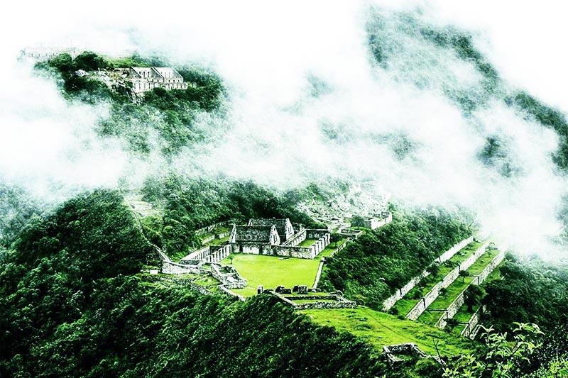 Vista del la antigua ciudad inca de Choquequirao