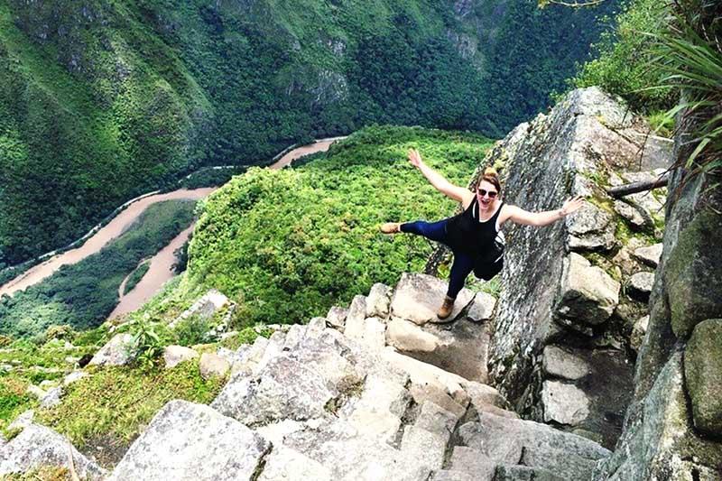Descendiendo de la montaña Waynapicchu