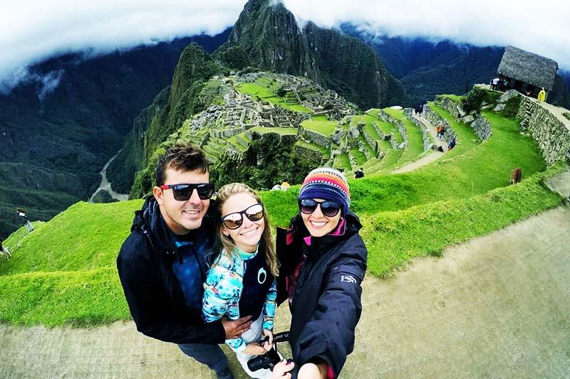 Vista de Machu Picchu desde la casa del guardián