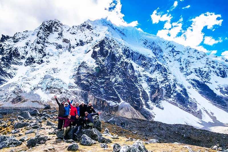Vista de la montaña Salkantay