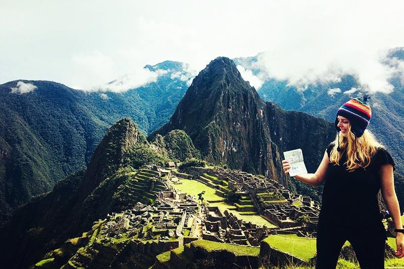 Tourist in Machu Picchu