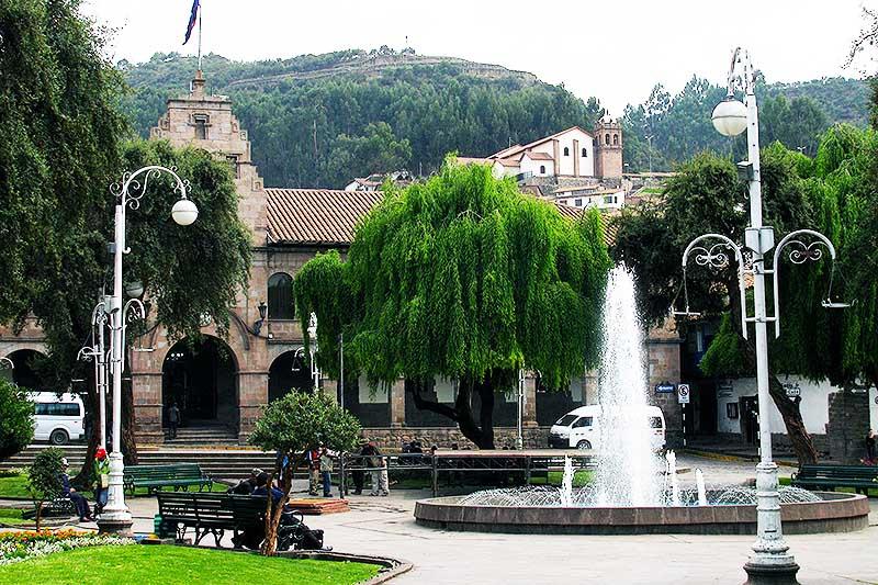 Vista de la plaza  Regocijo del Cusco