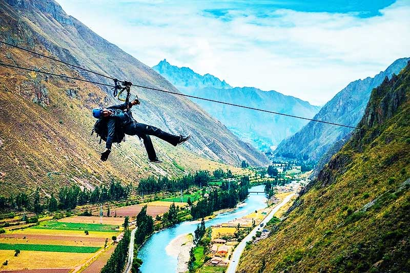 Zip Line in the Sacred Valley of the Incas