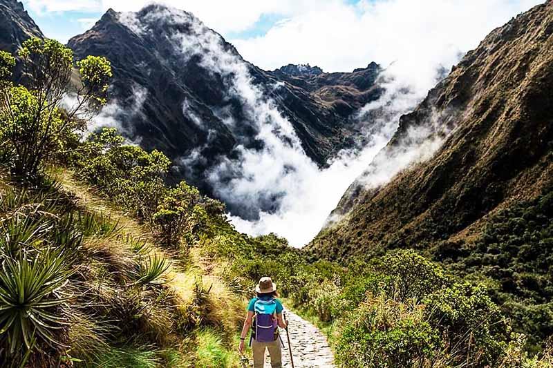 Paesaggio di viaggio Inca Trail