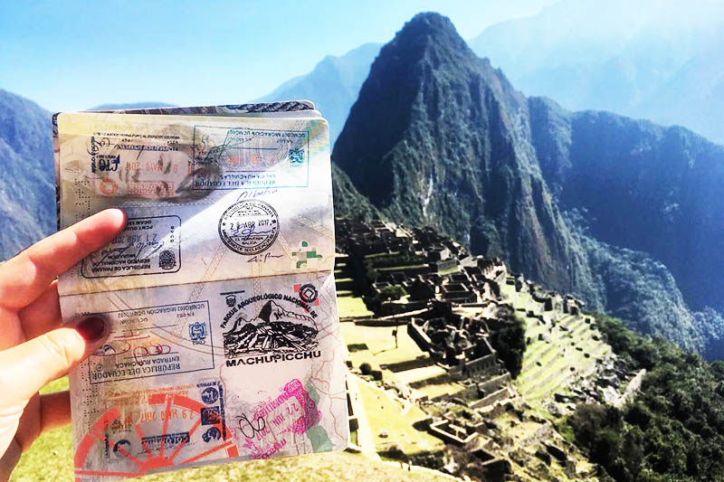 Passport trip in Machu Picchu