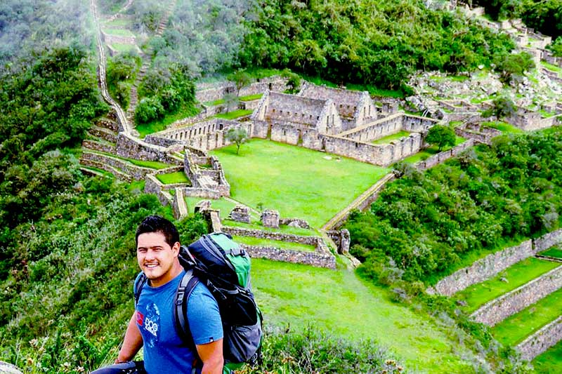 Tourist in Choquequirao