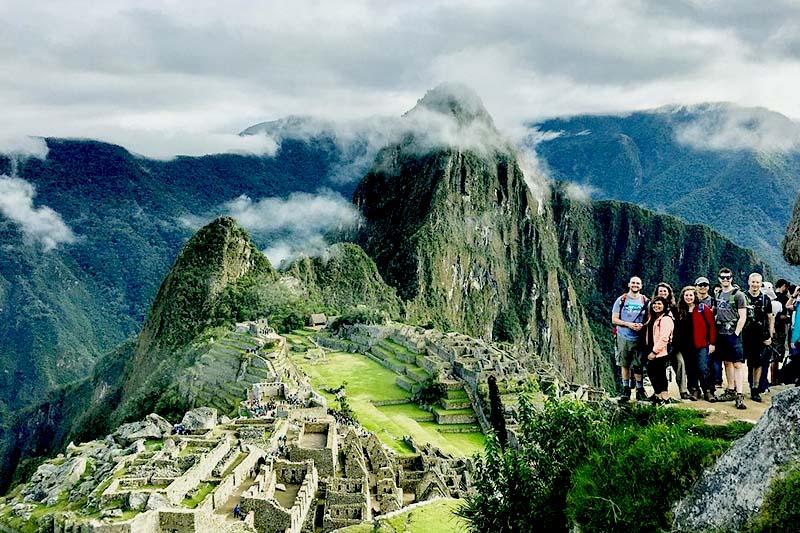 Touristen in Machu Picchu