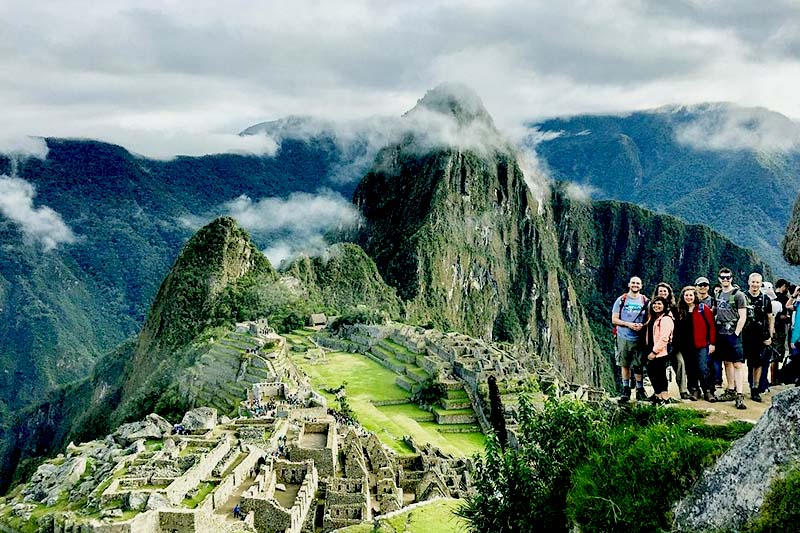 Turistas em Machu Picchu