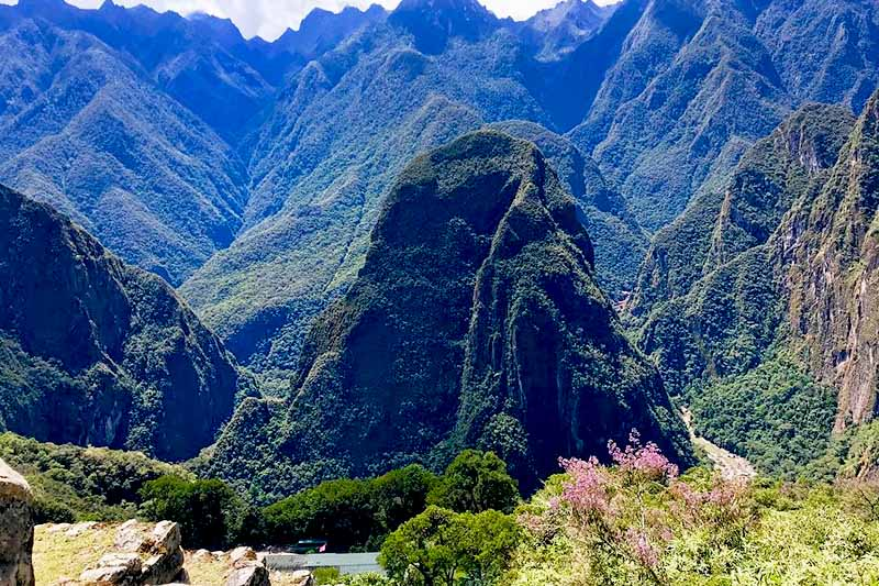 View of the Putucusi mountain in Machu Picchu