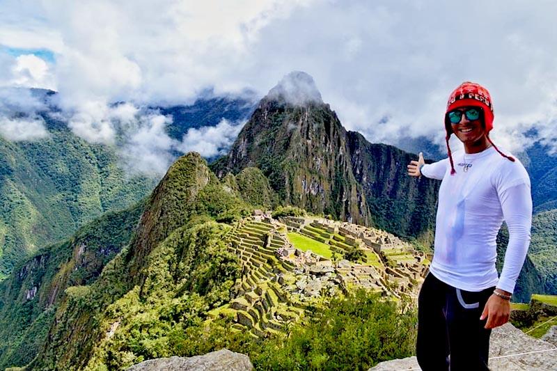 Turista a Machu Picchu