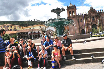 Tourists group Cusco