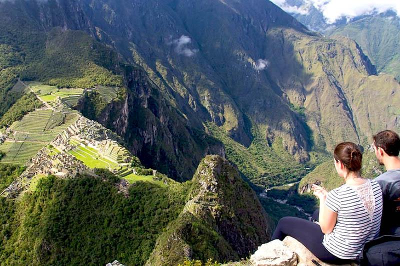 Parte superiore di Huayna Picchu