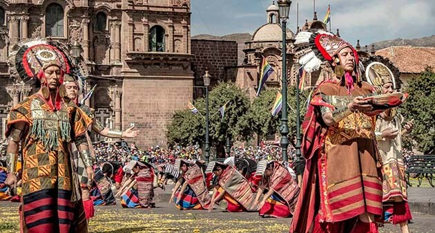 Inti Raymi plaza Armas