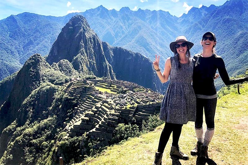 Tourists in Machu Picchu