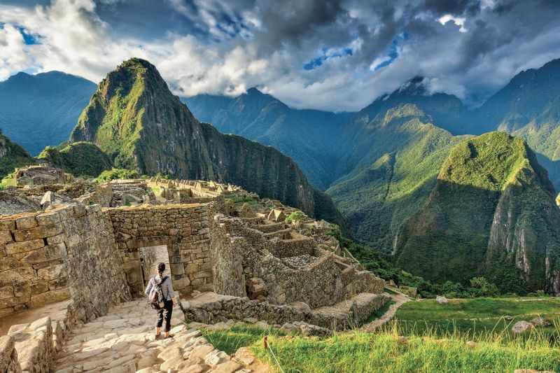 Amazed tourist in Machu Picchu