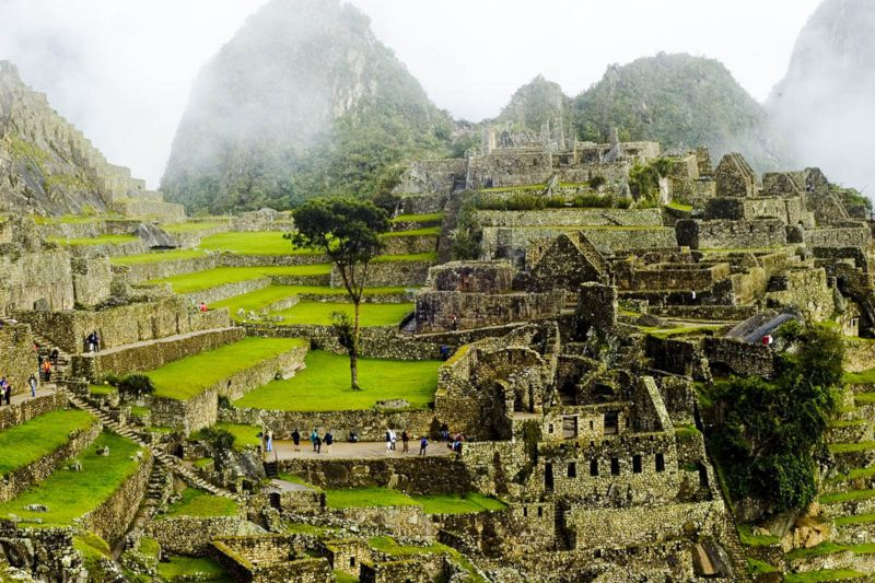 Constructions in Machu Picchu