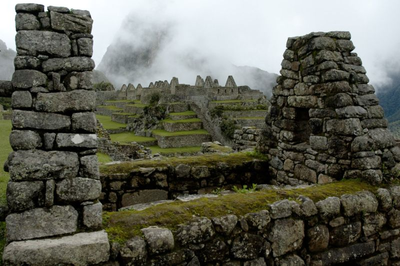Interior of the Inca city of Machu Picchu
