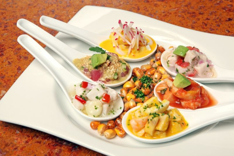 Variety of ceviches